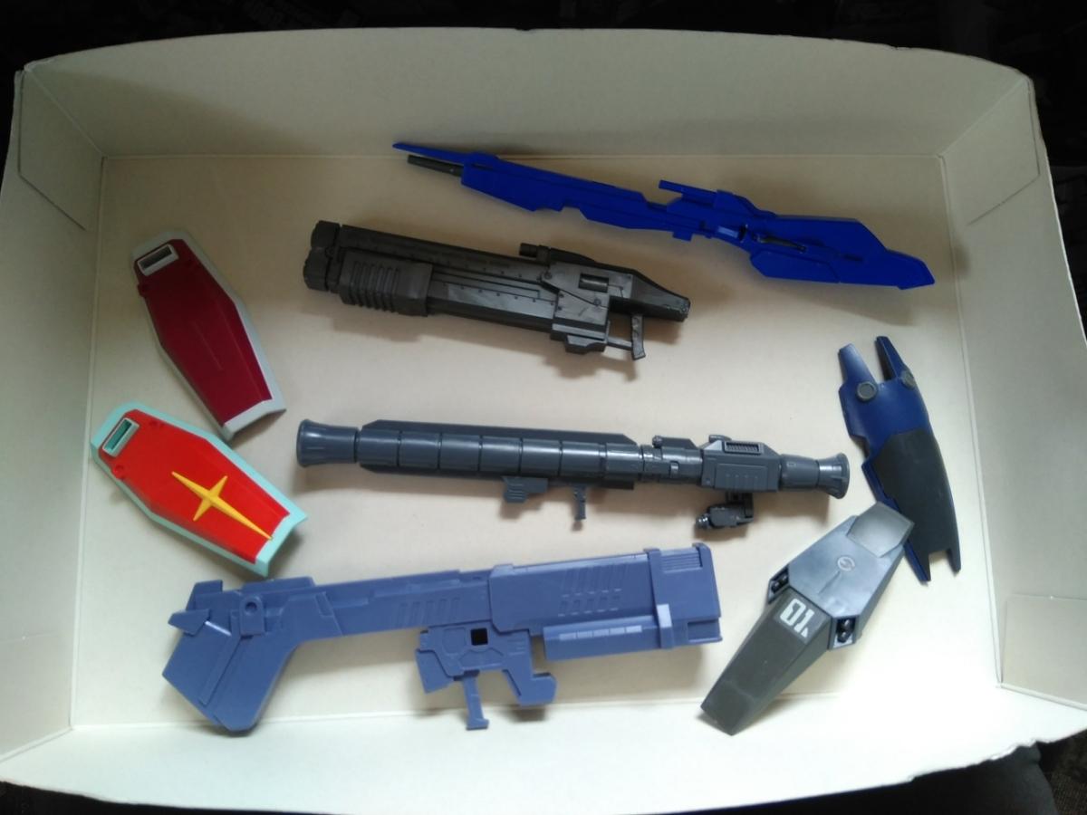 HGUC 1/144 素組完成品 ジャンクセット 同梱可 定形外郵便発送可 グスタフカール向け大型武器_画像6