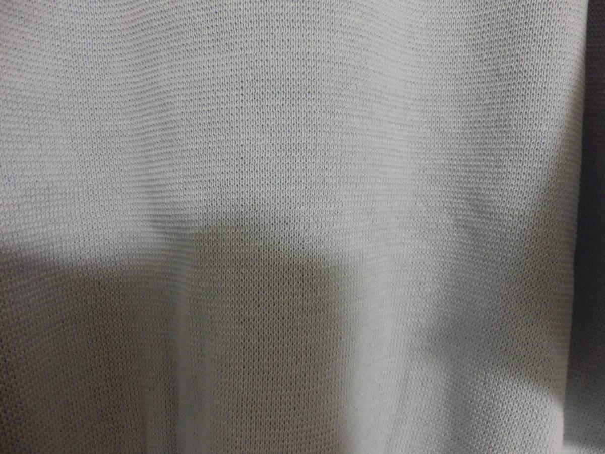 新品春物グランターブルスコットクラブコットン100%異素材ミックス袖シャツ素材リボンニットブルー定価15800_画像6