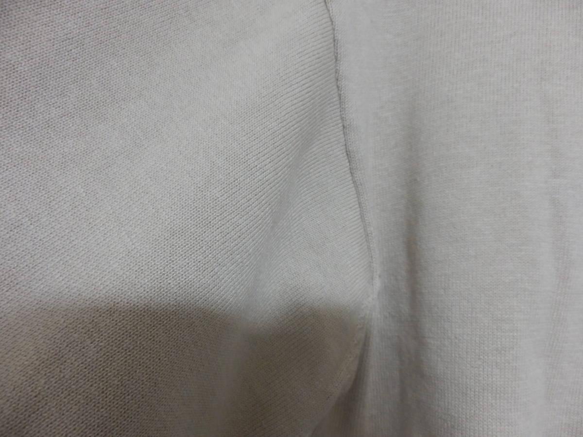 新品春物スコットクラブLILLYLYNQUEコットン混バルーン袖星柄ニットベージュ定価12800_画像4