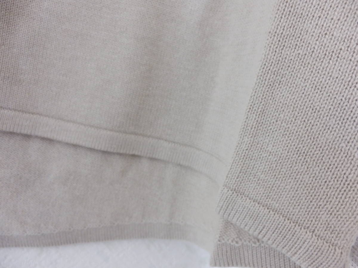 新品春物スコットクラブLILLYLYNQUEコットン混バルーン袖星柄ニットベージュ定価12800_画像6