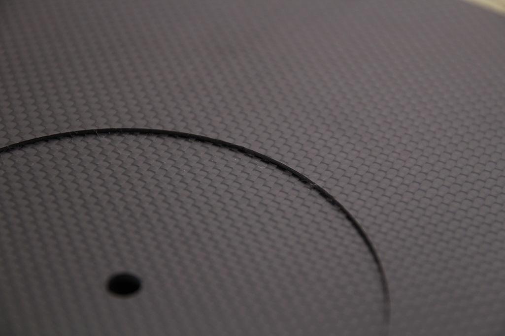 3928 ★特注品 ドライカーボン製 ターンテーブルシート 厚み 3mm レコード スリップマット CFRP プレート 板 ボード 炭素繊維 LP EP ♪1123_画像4