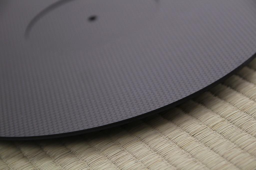 3928 ★特注品 ドライカーボン製 ターンテーブルシート 厚み 3mm レコード スリップマット CFRP プレート 板 ボード 炭素繊維 LP EP ♪1123_画像5