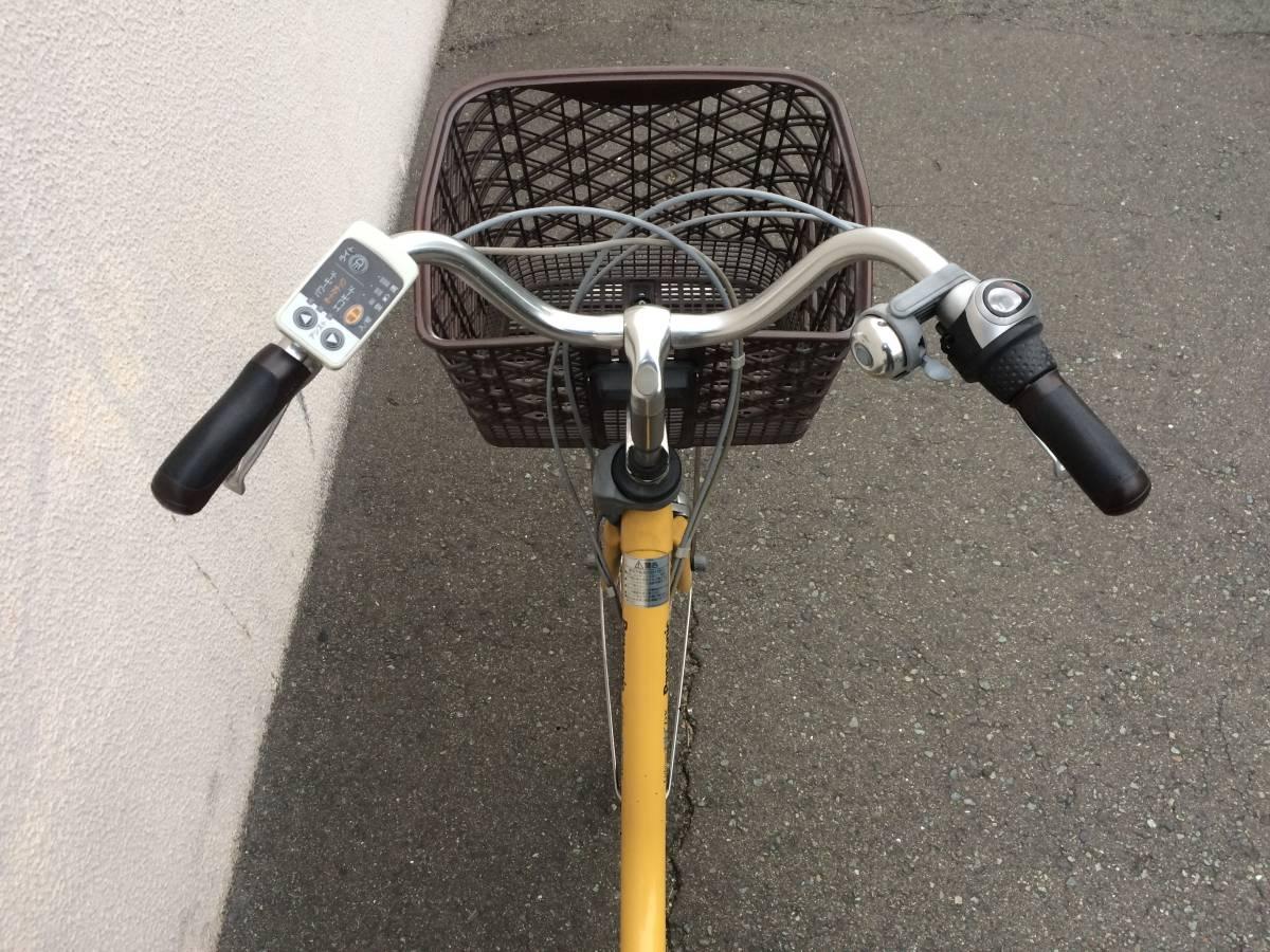 地域限定 パナソニック ビビ DX 新基準 24インチ 5AH 子供乗せ 黄色 ナチュラ アシスタ 神戸市 電動自転車_画像2