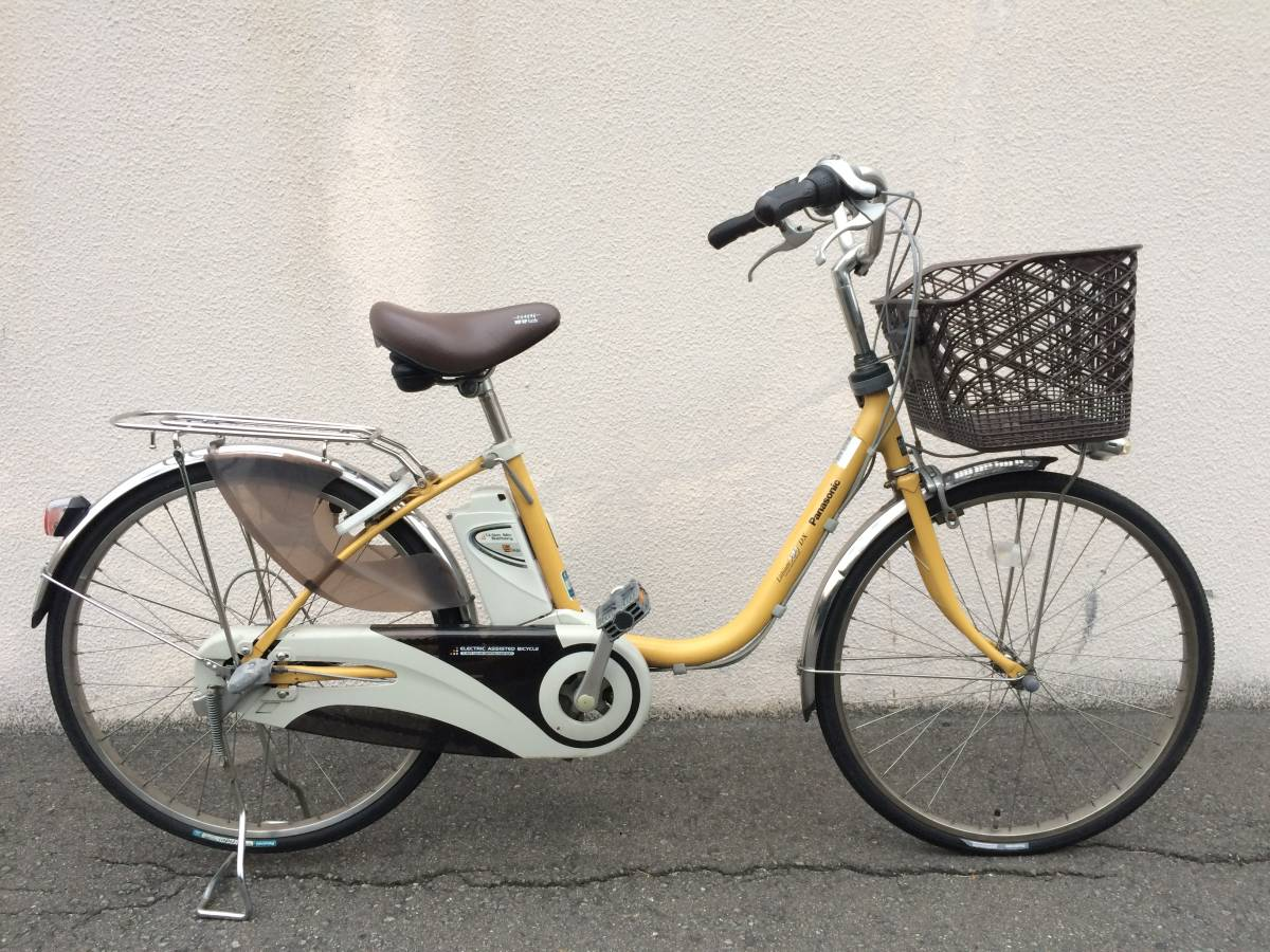 地域限定 パナソニック ビビ DX 新基準 24インチ 5AH 子供乗せ 黄色 ナチュラ アシスタ 神戸市 電動自転車