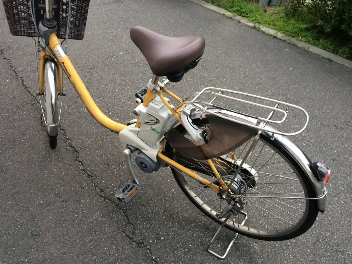 地域限定 パナソニック ビビ DX 新基準 24インチ 5AH 子供乗せ 黄色 ナチュラ アシスタ 神戸市 電動自転車_画像3