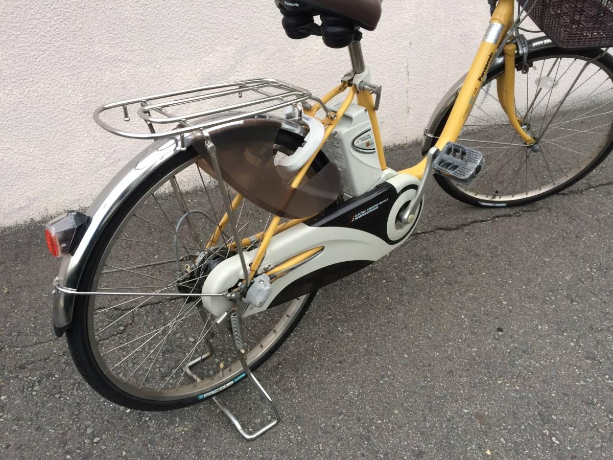 地域限定 パナソニック ビビ DX 新基準 24インチ 5AH 子供乗せ 黄色 ナチュラ アシスタ 神戸市 電動自転車_画像4