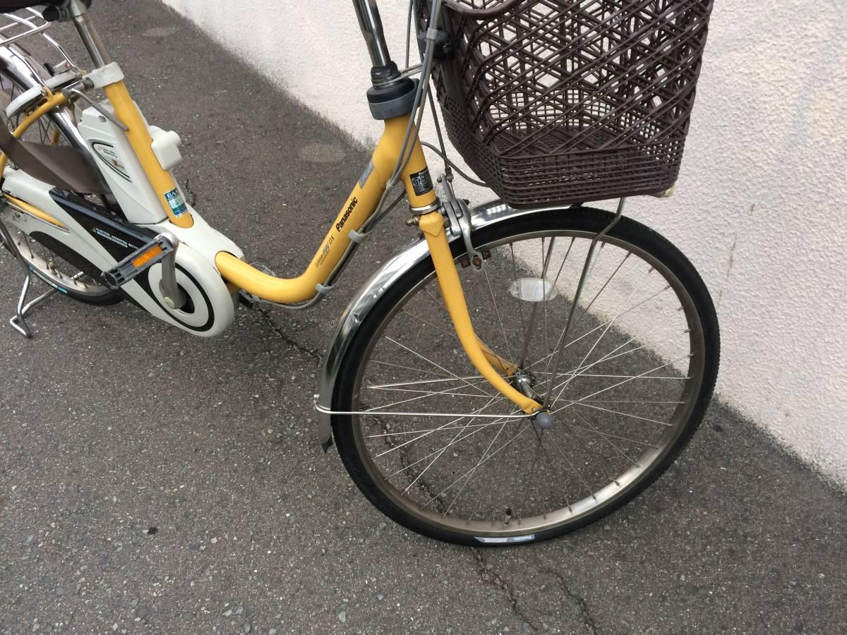 地域限定 パナソニック ビビ DX 新基準 24インチ 5AH 子供乗せ 黄色 ナチュラ アシスタ 神戸市 電動自転車_画像5