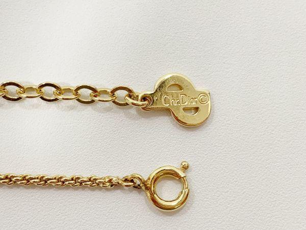 ◎クリスチャン・ディオール Christian Dior ネックレス リボン ゴールド 中古品 箱付  KK56_画像9
