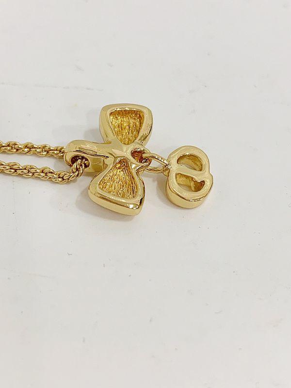 ◎クリスチャン・ディオール Christian Dior ネックレス リボン ゴールド 中古品 箱付  KK56_画像7