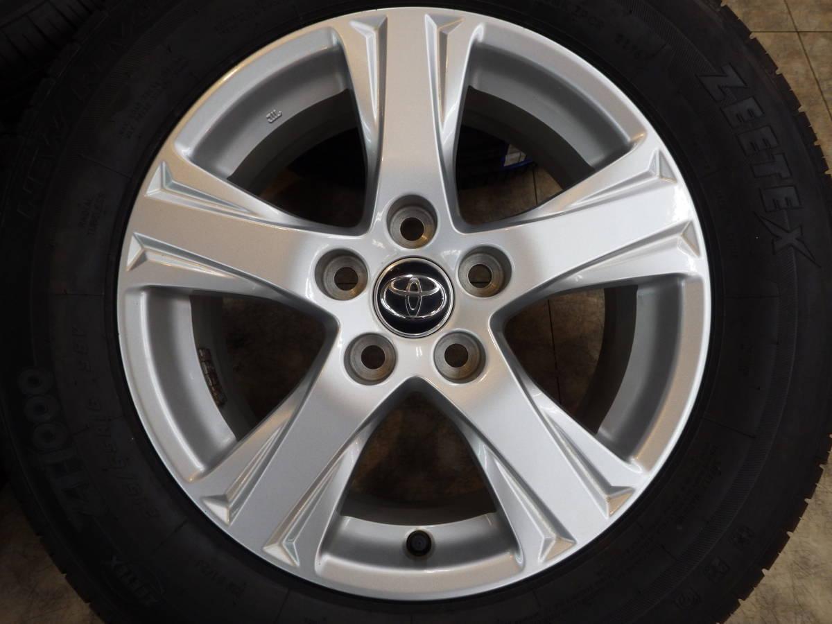 即納可能 美品 トヨタ 30系 アルファード ヴェルファイア 純正 16 5H114.3 6.5J+33 4本セット 新品タイヤ 215/65R16 車検用 純正戻し_画像2