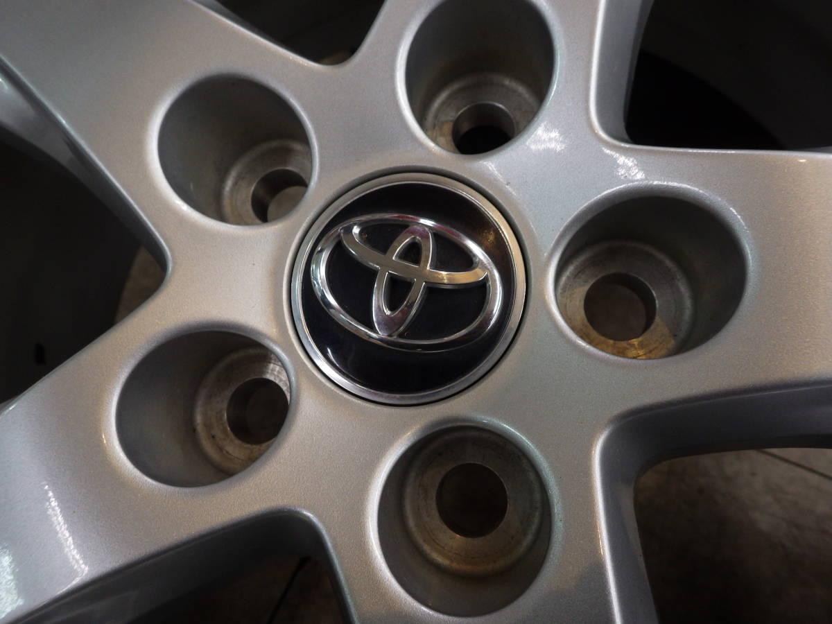 即納可能 美品 トヨタ 30系 アルファード ヴェルファイア 純正 16 5H114.3 6.5J+33 4本セット 新品タイヤ 215/65R16 車検用 純正戻し_画像4