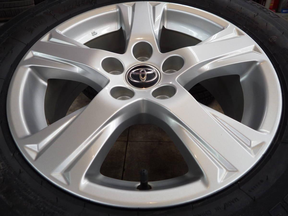即納可能 美品 トヨタ 30系 アルファード ヴェルファイア 純正 16 5H114.3 6.5J+33 4本セット 新品タイヤ 215/65R16 車検用 純正戻し_画像6