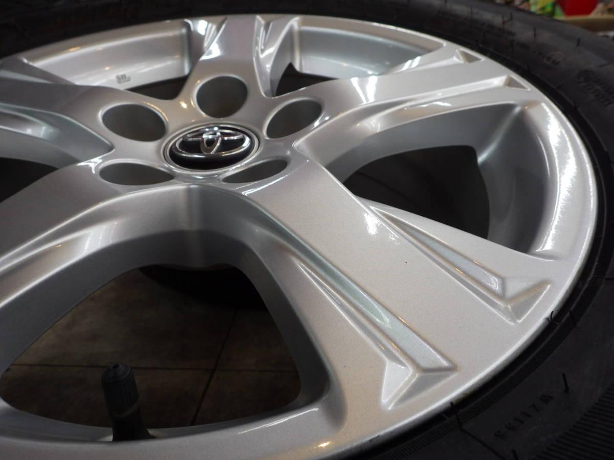 即納可能 美品 トヨタ 30系 アルファード ヴェルファイア 純正 16 5H114.3 6.5J+33 4本セット 新品タイヤ 215/65R16 車検用 純正戻し_画像7