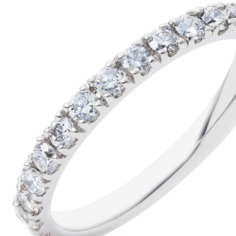 |【size11号】pt900 プラチナ H&C 極上 ダイヤモンド 0.50ct エタニティ リン…