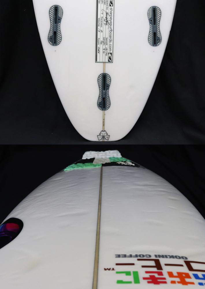 """【中古】SHARPEYE SURFBOARDS シャープアイサーフボード HOLY TOLEDO ホーリートレド 5'0"""" 17L キッズサーフボード  送料無料! _画像4"""