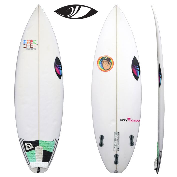 """【中古】SHARPEYE SURFBOARDS シャープアイサーフボード HOLY TOLEDO ホーリートレド 5'0"""" 17L キッズサーフボード  送料無料! _画像1"""