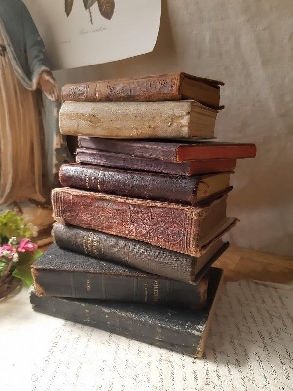フランスアンティーク 素敵な 革 洋書 聖書 小振り 19世紀 9冊セット ブック_画像2