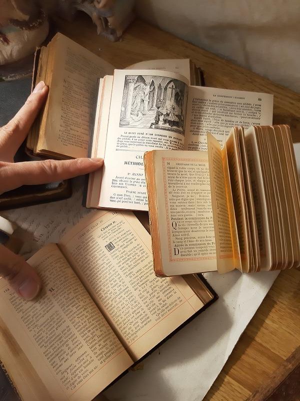 フランスアンティーク 素敵な 革 洋書 聖書 小振り 19世紀 9冊セット ブック_画像7