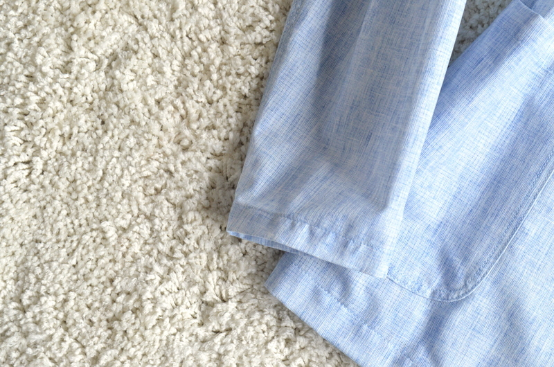 【試着程度】新品同様 清潔感溢れる 軽量 春夏 日本製 Papas+ パパスプラス メンズ テーラード ブレザー ジャケット サイズ M _画像5