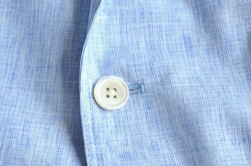 【試着程度】新品同様 清潔感溢れる 軽量 春夏 日本製 Papas+ パパスプラス メンズ テーラード ブレザー ジャケット サイズ M _画像6