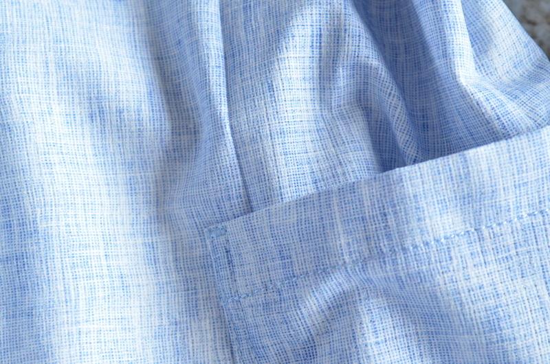 【試着程度】新品同様 清潔感溢れる 軽量 春夏 日本製 Papas+ パパスプラス メンズ テーラード ブレザー ジャケット サイズ M _画像8