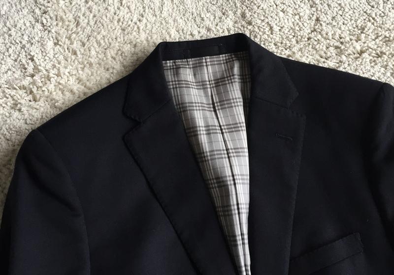 【試着程度同様】大人気の傑作モデル 銀ボタン ネイビー 春秋 BURBERRY BLACK LABEL バーバリーブラックレーベル メンズ ジャケット M _画像10