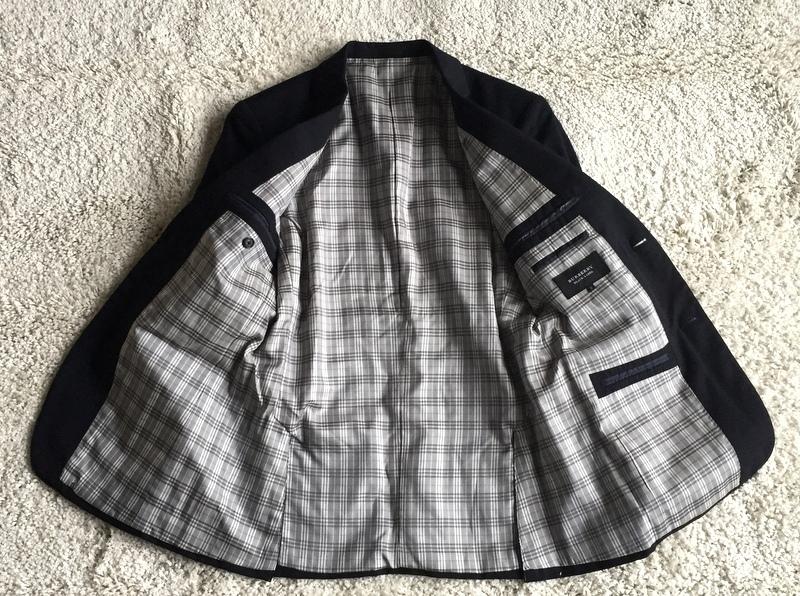 【試着程度同様】大人気の傑作モデル 銀ボタン ネイビー 春秋 BURBERRY BLACK LABEL バーバリーブラックレーベル メンズ ジャケット M _画像7