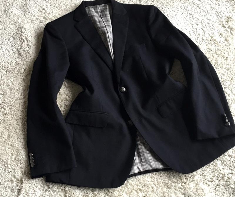 【試着程度同様】大人気の傑作モデル 銀ボタン ネイビー 春秋 BURBERRY BLACK LABEL バーバリーブラックレーベル メンズ ジャケット M _画像9