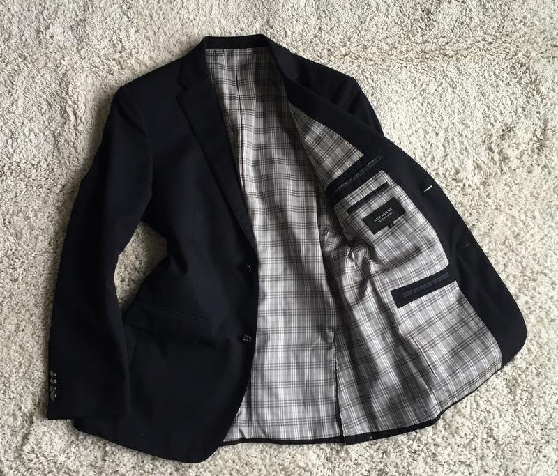 【試着程度同様】大人気の傑作モデル 銀ボタン ネイビー 春秋 BURBERRY BLACK LABEL バーバリーブラックレーベル メンズ ジャケット M
