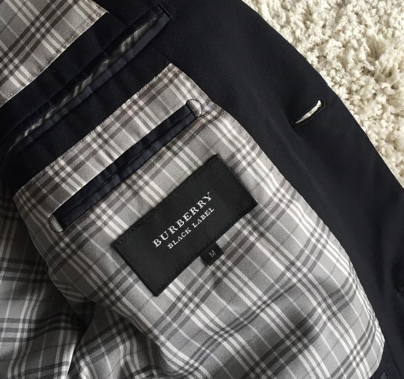 【試着程度同様】大人気の傑作モデル 銀ボタン ネイビー 春秋 BURBERRY BLACK LABEL バーバリーブラックレーベル メンズ ジャケット M _画像5