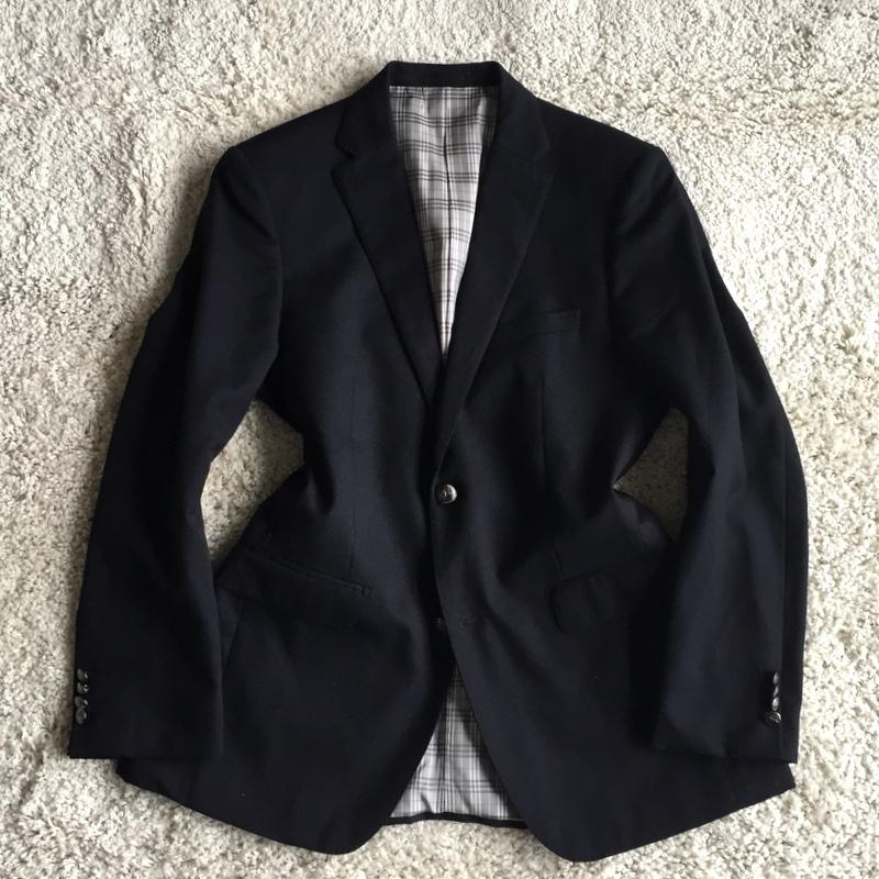 【試着程度同様】大人気の傑作モデル 銀ボタン ネイビー 春秋 BURBERRY BLACK LABEL バーバリーブラックレーベル メンズ ジャケット M _画像2