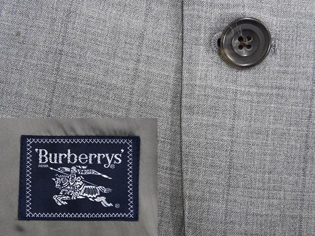 BURBERRY/上質シングル2ボタンメンズスーツ/グレー×ストライプ柄◆AB6体/背抜き◆ウール100%/IG◆FAGQ14_画像3