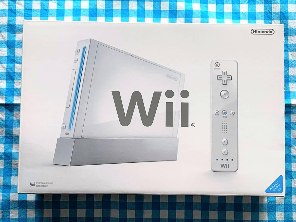 Wii本体 (シロ) 「Wiiリモコンジャケット」同梱 (RVL-S-WD) 【メーカー生産終了】 付属品完備_画像1