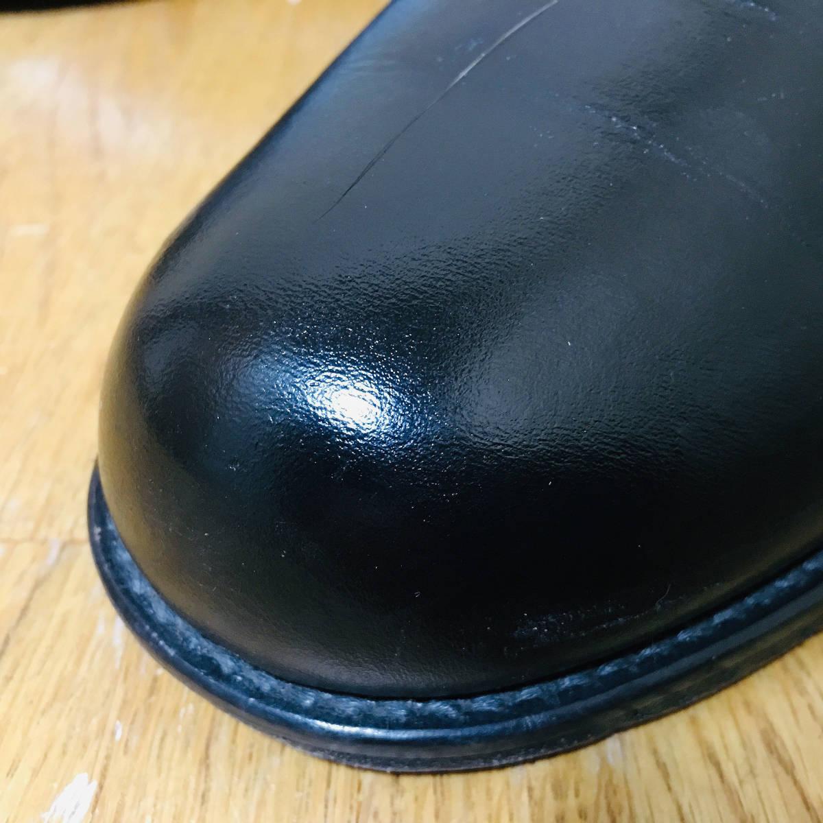 ■ 美品 定価3.8万 《 PADRONE 》 メンズ サイドゴア 本革 ショートブーツ 41 26-26.5cm 黒 パドローネ プレーントゥ レザーシューズ 革靴 _画像2