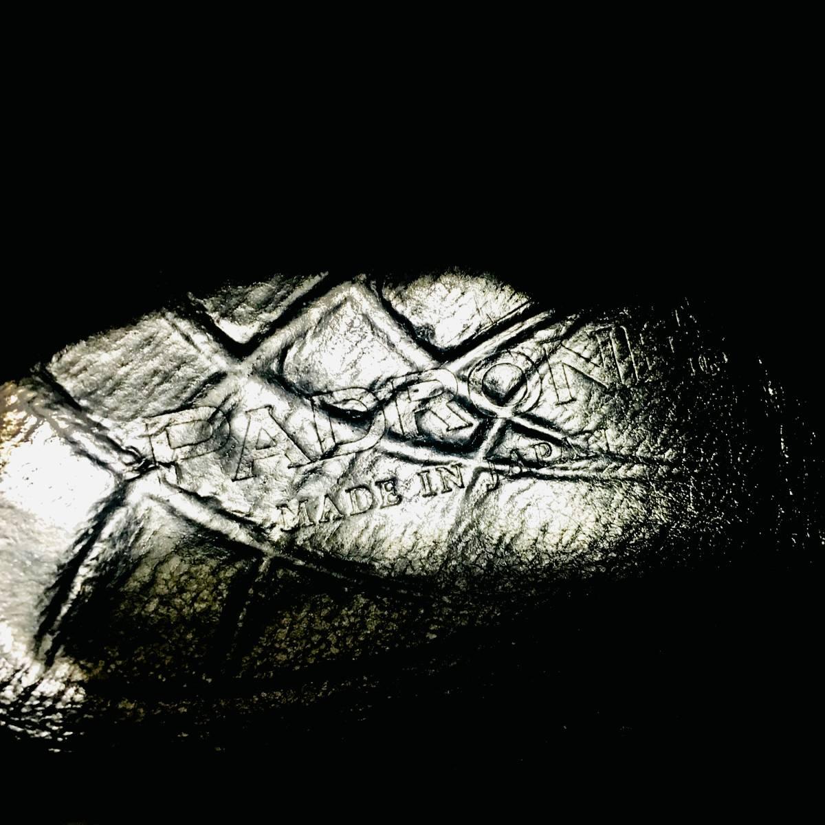 ■ 美品 定価3.8万 《 PADRONE 》 メンズ サイドゴア 本革 ショートブーツ 41 26-26.5cm 黒 パドローネ プレーントゥ レザーシューズ 革靴 _画像7