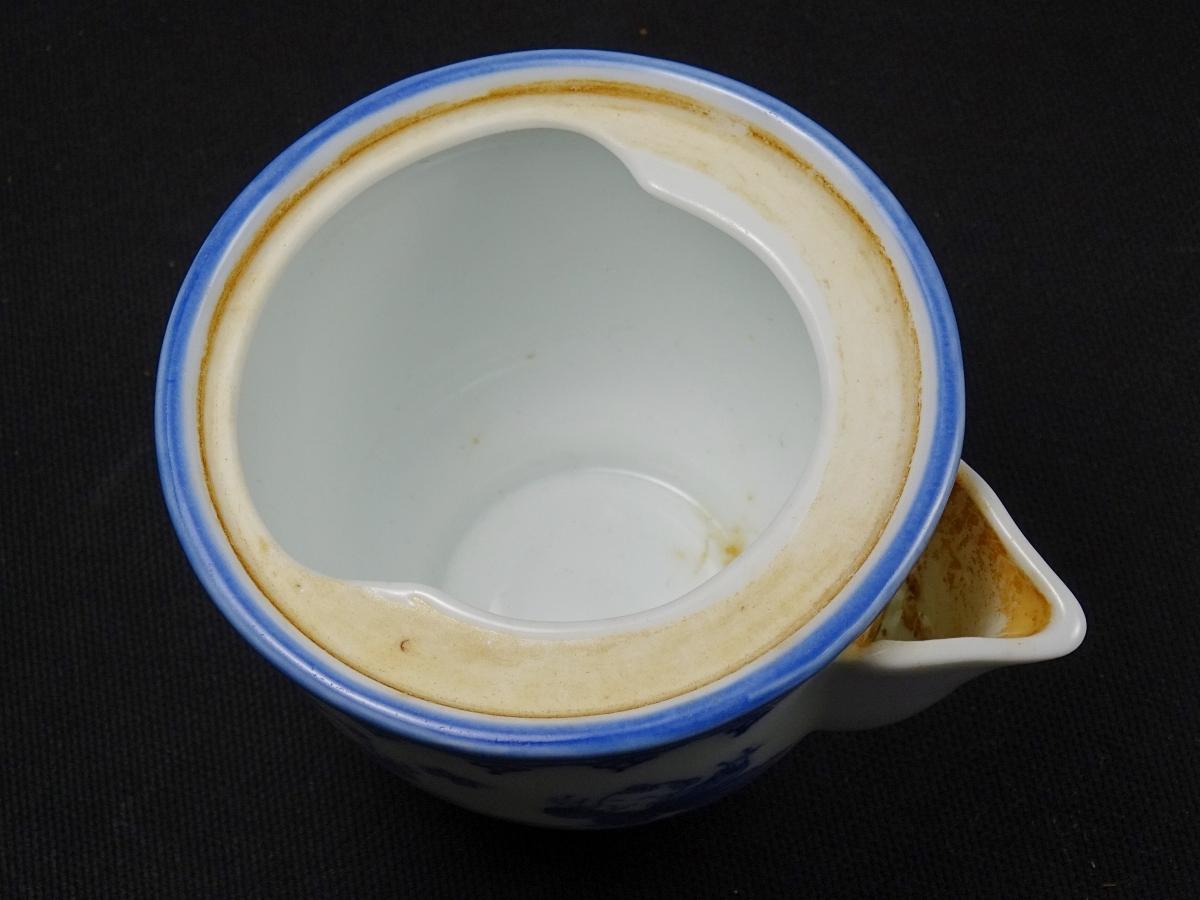 87■三川内焼 平戸 松山作 献上唐子絵 煎茶器揃 急須 湯冷 煎茶碗 5客 共箱 煎茶道具_画像7