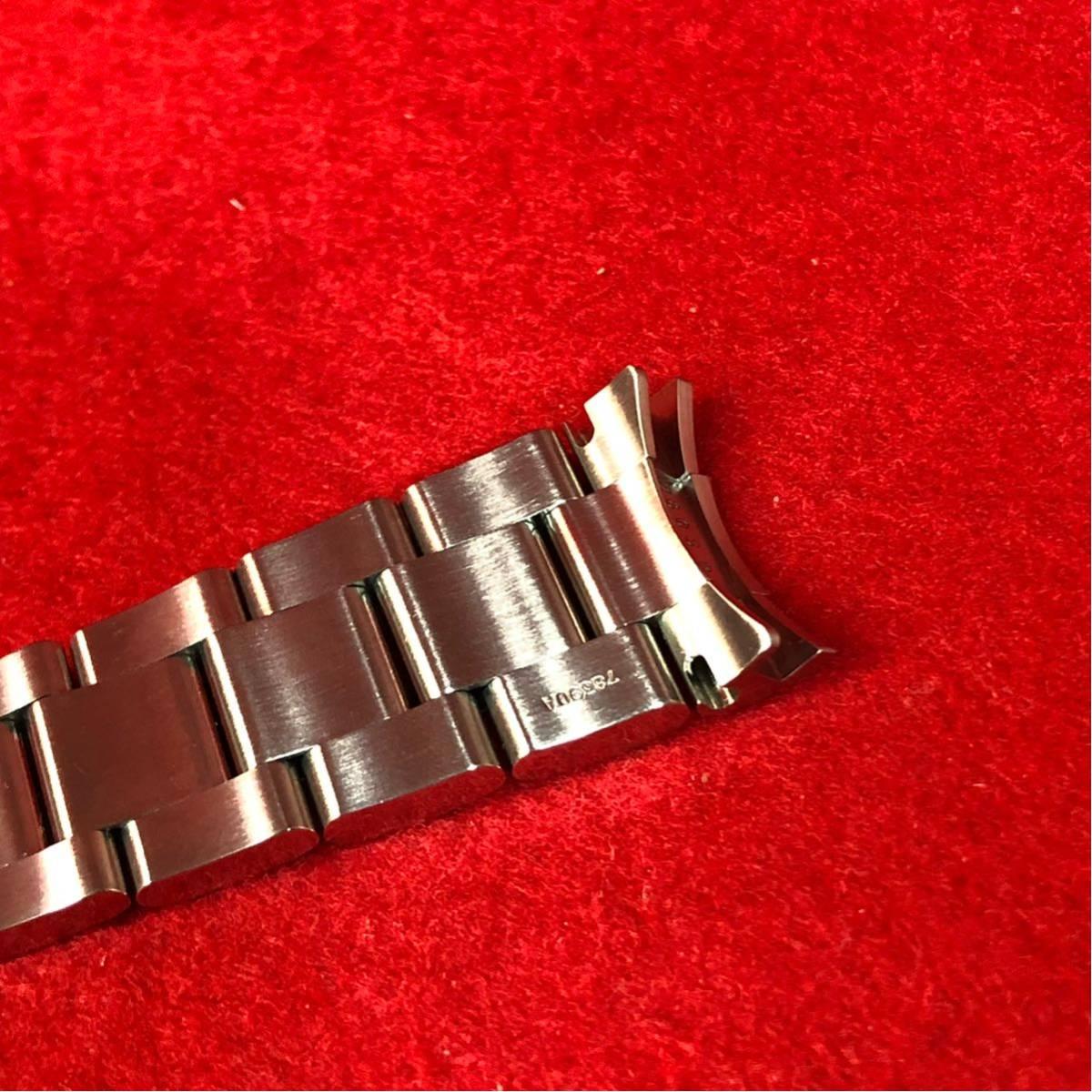 【美品】ROLEX ロレックス 純正 1650 デイトナ用 ブレスレット 最終期 78390/803B 1999年~2000年 5+7コマ 12コマ 腕時計 メンズ_画像6