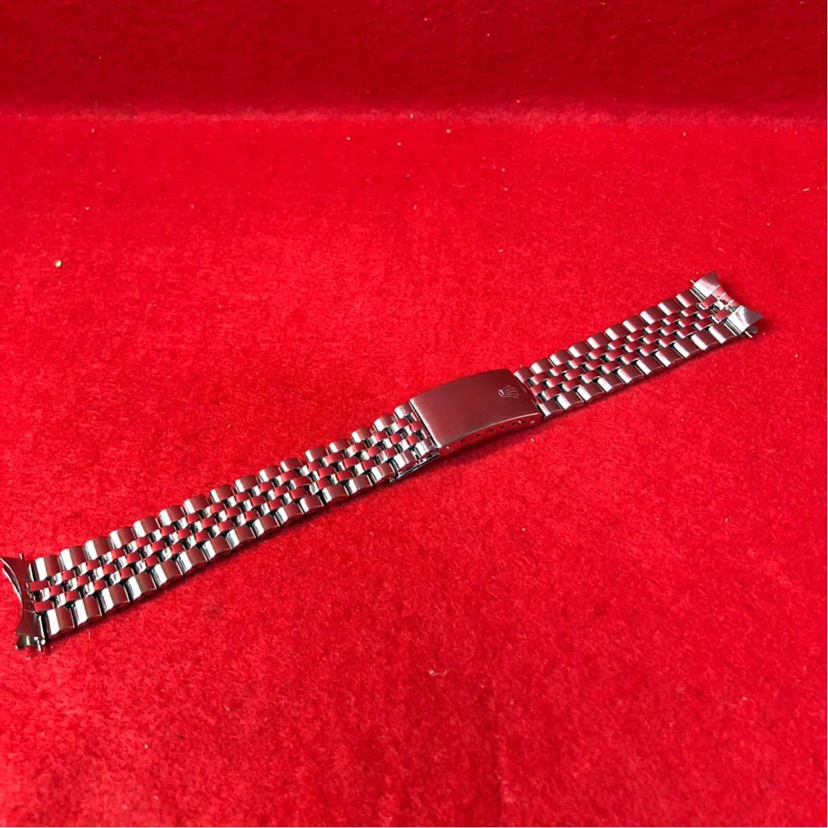 60000円~【美品】ROLEX ロレックス 純正 20mm 巻き ジュビリーブレス 6251H/FF55 メンズ 腕時計 ベルト パーツ 部品_画像1