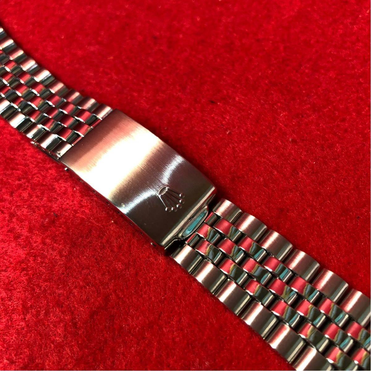 60000円~【美品】ROLEX ロレックス 純正 20mm 巻き ジュビリーブレス 6251H/FF55 メンズ 腕時計 ベルト パーツ 部品_画像3