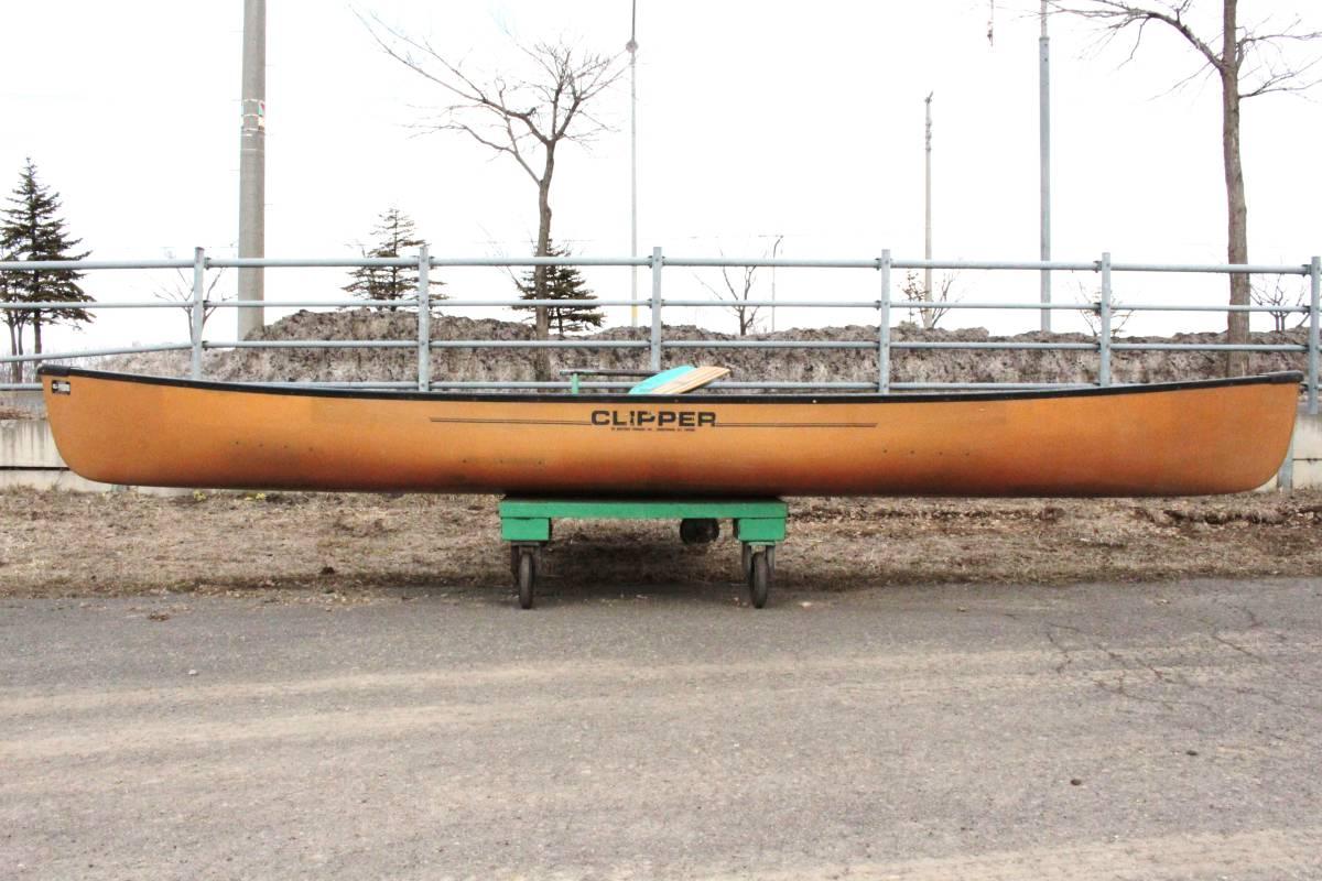 北海道 札幌発 CLIPPER Ranger 16 カナディアン カヌー FRP WESTERN CANOEING クリッパー 札幌 引取限定 発送不可 オールド_画像3