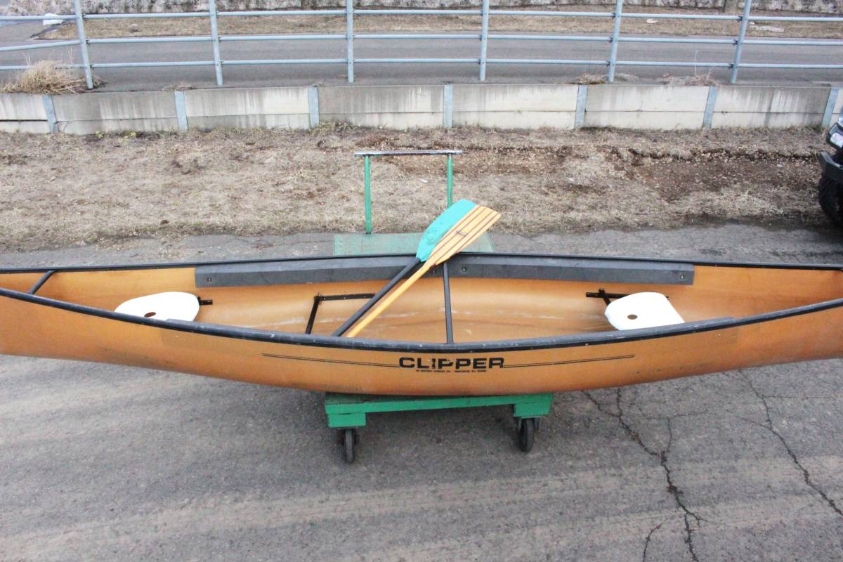 北海道 札幌発 CLIPPER Ranger 16 カナディアン カヌー FRP WESTERN CANOEING クリッパー 札幌 引取限定 発送不可 オールド_画像4