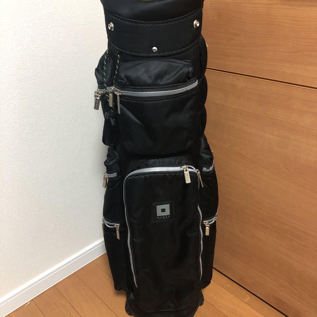 オノフ・定番人気モデル・多数ポケット・キャディバッグ・ブラック_画像3