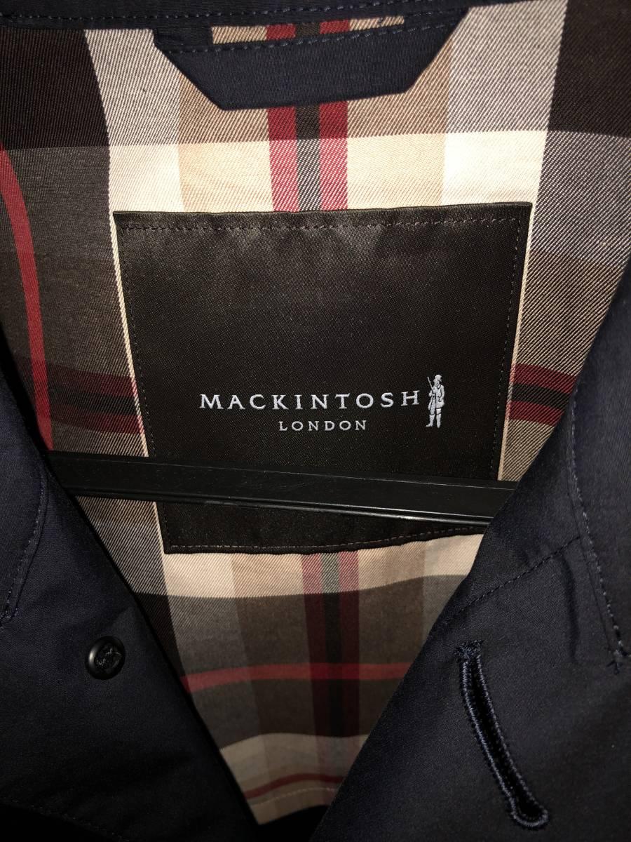 新品未使用 マッキントッシュロンドン ステンカラーコート ネイビー 40 MACKINTOSH LONDON_画像5