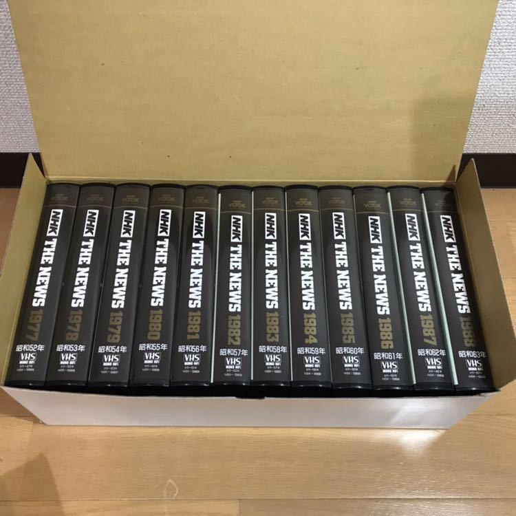 貴重 NHKニュース映像 VHS 36本セット 当時セット価格168000円 1953年~1988年 THE NEWS 動作未確認 ジャンク 歴史資料_画像2