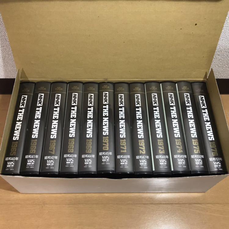 貴重 NHKニュース映像 VHS 36本セット 当時セット価格168000円 1953年~1988年 THE NEWS 動作未確認 ジャンク 歴史資料_画像3