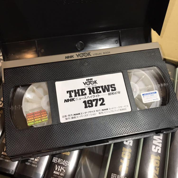 貴重 NHKニュース映像 VHS 36本セット 当時セット価格168000円 1953年~1988年 THE NEWS 動作未確認 ジャンク 歴史資料_画像6