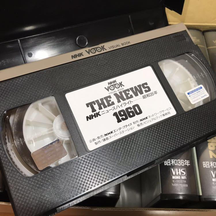 貴重 NHKニュース映像 VHS 36本セット 当時セット価格168000円 1953年~1988年 THE NEWS 動作未確認 ジャンク 歴史資料_画像7