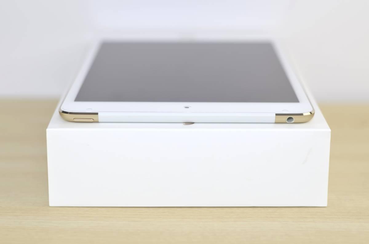 1円~新品同様 美品!au iPad mini4 16GB Wi-Fi + Cellular 人気のiPad mini!ゴールド MK712J/A 転売OK 送料 レターパックプラス510_画像5