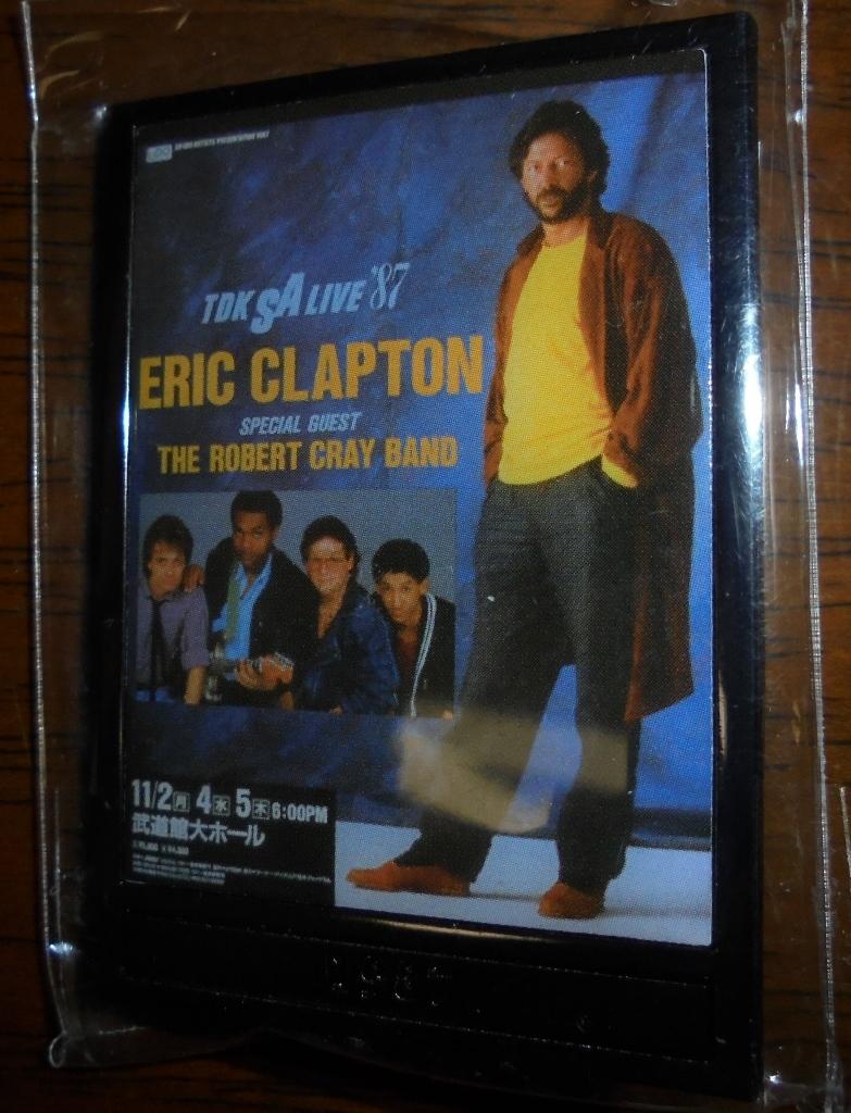 エリック・クラプトン / 2019日本公演公式グッズ ガチャピンバッヂ(1987)