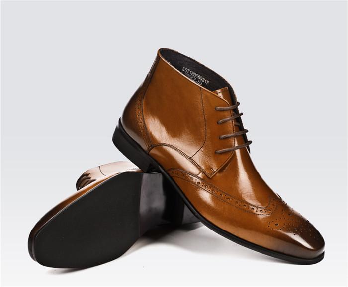国内希少!高級感満載 総本革レザーマーティンブーツメンズ靴ショートブーツ 貴重品牛革紳士ビジネスシューズ 革靴サイズ選択可_画像2